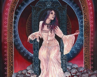 Persephone Queen of the Underworld 16x20 Poster Fine Art Print Pagan Mythology Bohemian Gypsy Witch Goddess Art