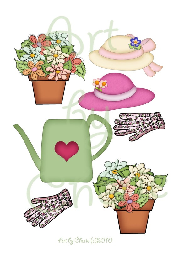 Flowers Clipart Watering Can Clipart Cute Clipart Garden