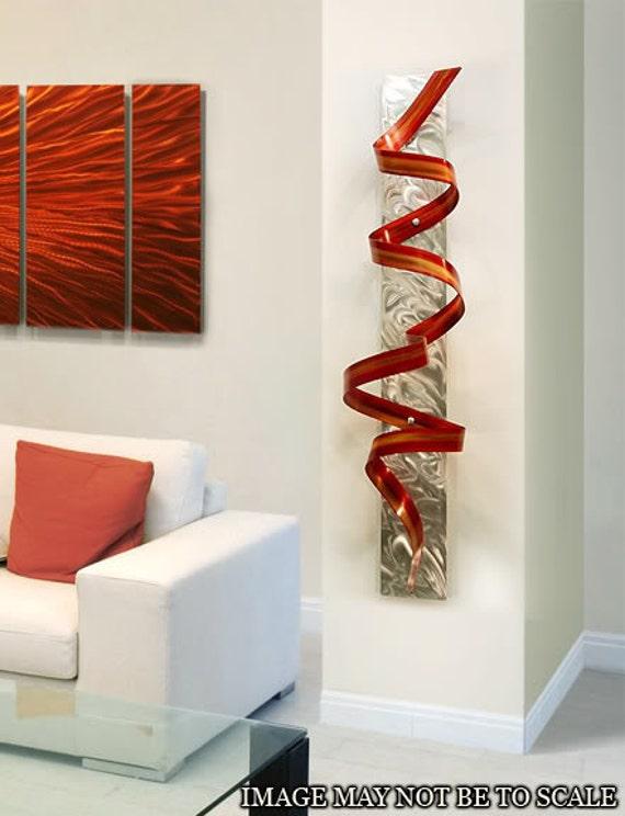 Red Orange Metal Wall Sculpture Abstract By Jonallenmetalart