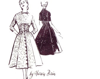 50s Spadea Designer Dress vintage pattern 36-26-37 mail order karen stark harvey berin