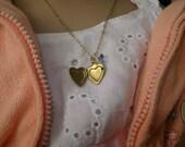 Vintage golden locket on vintage chain -  Twilight inspired  etsyBead, TeamBJD,  EnglishGeeks, paganteam, trashionteam, OlympiaEtsy, WWWG