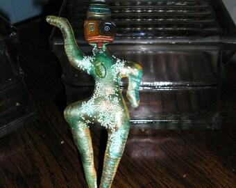 Pin Brooch Silk Art Doll Water Dancer   FunkyAlternativeJewelry, SpookyCuteTeam, , OlympiaEtsy, Dollmakers, trashionteam, WWWG, GirlGeeks