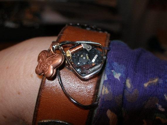 Steam Punk Bracelet Cuff -  leather, lace, watchworks, locket, and more   FunkyAlternativeJewelry  trashionteam  WWWG OlympiaEtsy