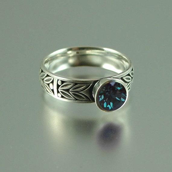 SACRED LAUREL silver ring with Alexandrite RESERVED for Jennifer