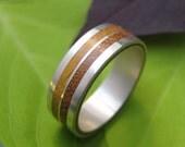 Lados Linea Moran Wood Ring -  ecofriendly sterling silver wood wedding ring, wood wedding band, wooden ring