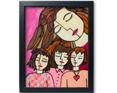 Mother daughter Art Print...