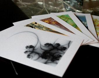 Fractal Greeting Cards - Nouveau Modern (set of 6)