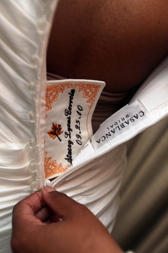 A Little Something Extra Wedding Dress Label With Decorative Border