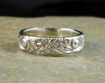 Artisan Sterling Silver Embossed Ring