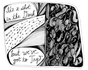 Shot in the Dark 8x10 Illustration Print