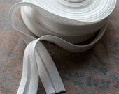 Linen bias tape -- width 2 cm -- white