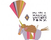 Notecard - Magical Unicorn Pony