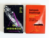 Vintage Sci Fi Books // 1960s BBC Science Fiction // A for Andromeda // Andromeda Breakthrough // by Fred Hoyle and John Elliot