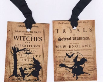 Vintage Style Halloween Tags Witches by Bluebird Lane