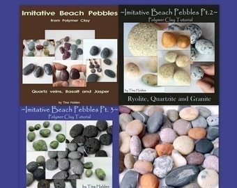 Imitative Beach Pebble Series plus bonus - Polymer Clay Tutorials - Digital PDF File Downloads
