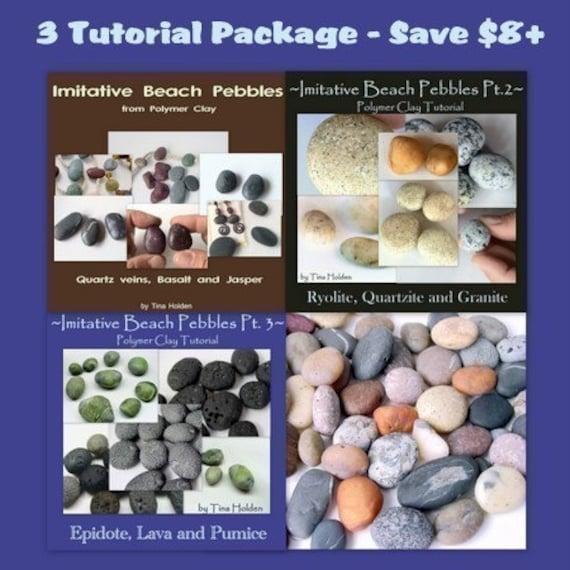 Imitative Beach Pebble Series plus bonus - Polymer Clay Tutorials - Digital PDF File Downloads