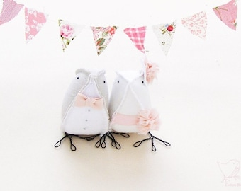 Wedding Cake Topper Fabric Birds Spring Summer Weddings 2015.