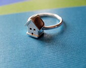 Tiny House Ring Sterling Silver