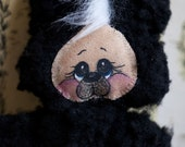 Stuffed Animal Skunk Plush Black