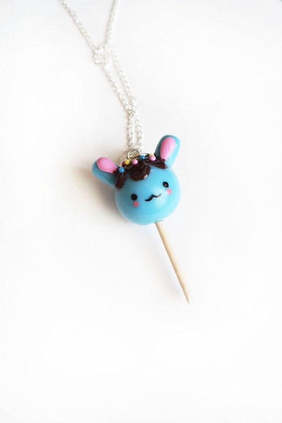 items similar to bunny lollipop necklace cute sweet