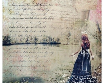 Paper Princess,  Fine Art Print, Dreamy, Whimsical, FairyTale