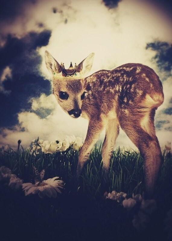 The Little Deer Prince: Woodland Art Print