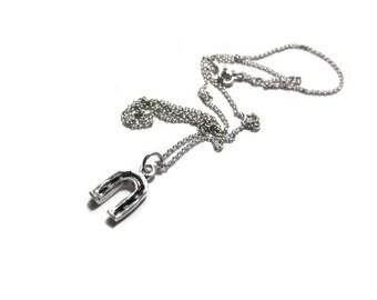 SALE horseshoe pendant