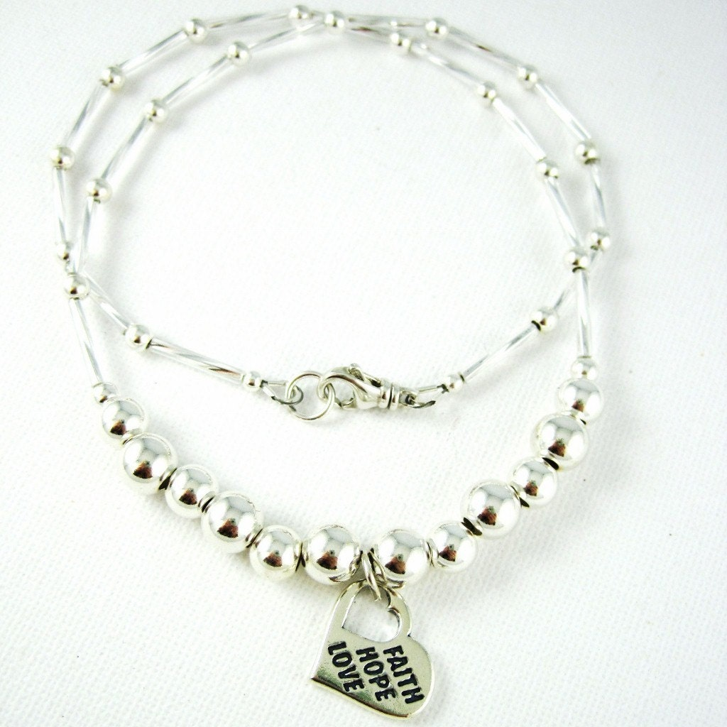 Religious Jewelry Spiritual Jewelry Faith Love Hope