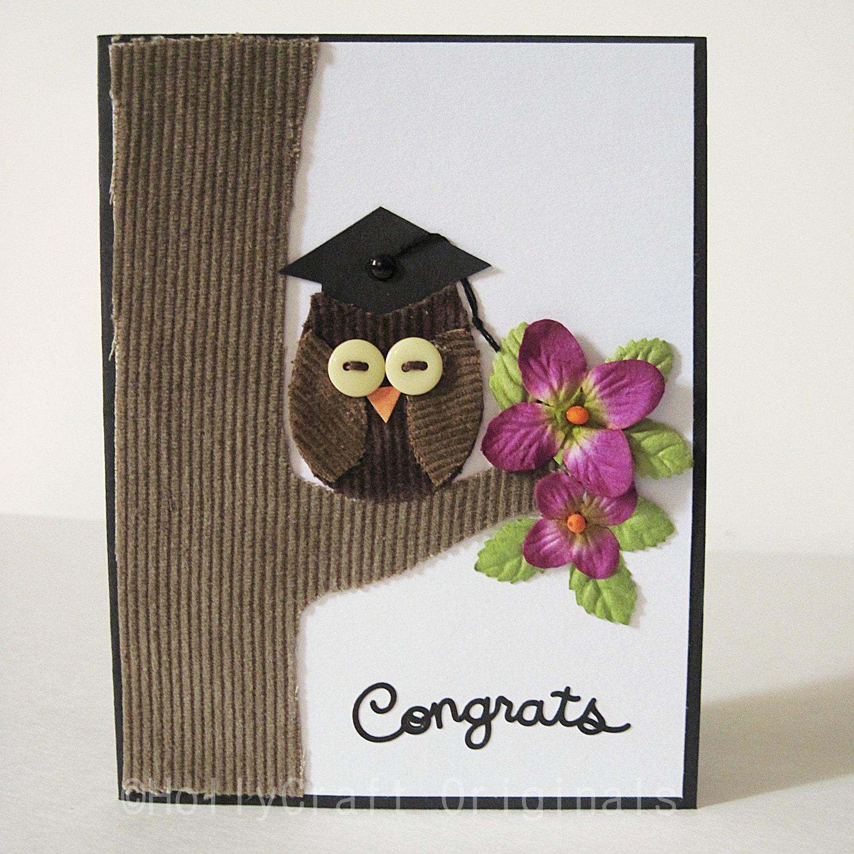 Owl Graduation Card Graduation Card Congratulations Card