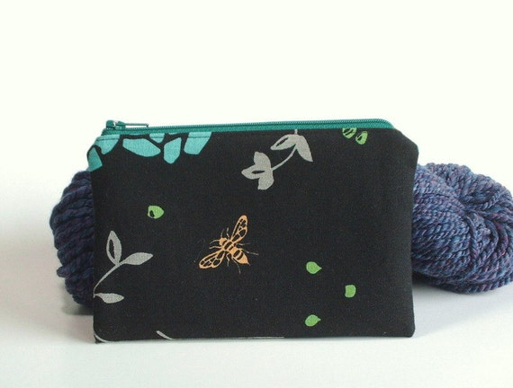 Zippered Pouch - imported Japanese fabric