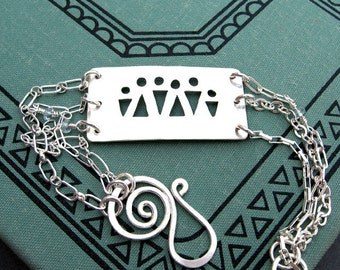 PERSONALIZED Mothers bracelet Family bracelet or pendant in sterling silver for your family CUSTOM