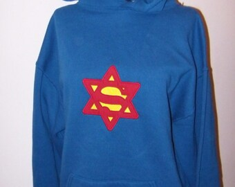 Holiday Sale 2XL Hoodie SUPERMAN Super Dad Hooded Sweatshirt Embroidery & Applique Ready to Ship