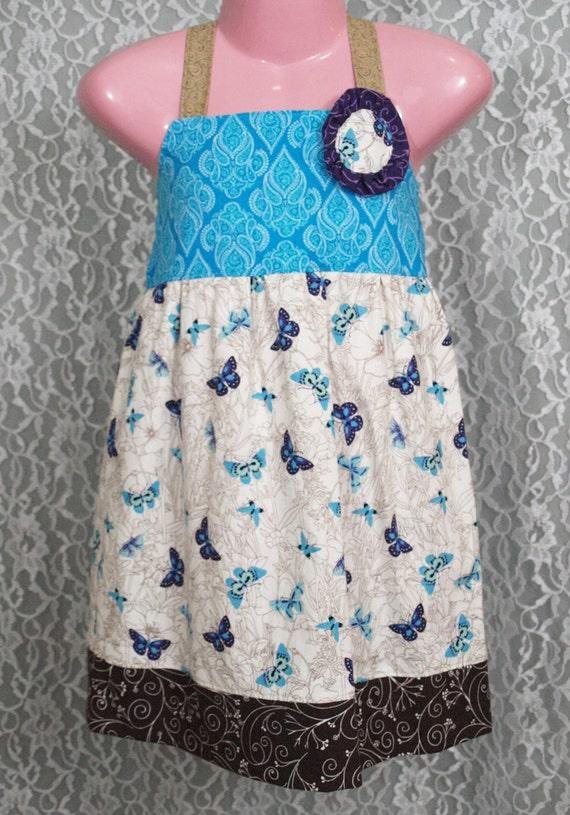 Boutique Girls Dress - BUTTERFLY FLIGHT - Toddler size 4T - OOAK