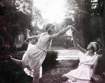 Isadora Dancers 2 Teen Girls Ballet at Sunset Greeting Card