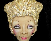 LEARN how to paint FLAT doll Faces  PDF ePattern / workshop HanD PainTeD Ostrich ShowGirL Natalie Hamade