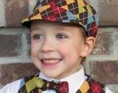 Newsboy Hat Sewing Pattern PDF Child sizes. Unisex. Baby, Toddler, Child. Boy, Girl.
