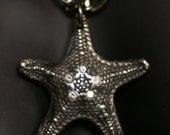 Starfish Necklace - Silver with Cubic Zirconias  - Made to Order