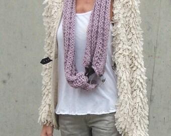 Lavender double wrap scarf cowl