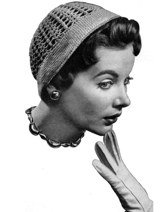Lace Cloche - Vintage Crochet Hat Pattern - 1940s 50s - PDF eBook