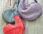 Pair of Leather Bota Bags 1 liter, wine skin