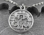 Defining the Life of a Paramedic Artful Hardware Pendant