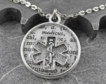 Paramedic Medical Definition Necklace - Defining the Life of a Paramedic by COGnitive Creations