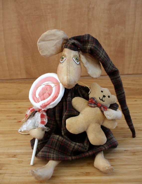 Christmas Mouse Doll Sewing Pattern E Pattern Primitive Decoration PDF  Instant Download