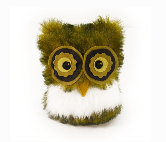 Henry the Owl Stuffed Toy Animal Plushie - 8x7 Inches