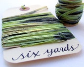 Mossy Forest Green Seamed String, 6 yards soft, stretchy ribbon for gift wrapping and packaging