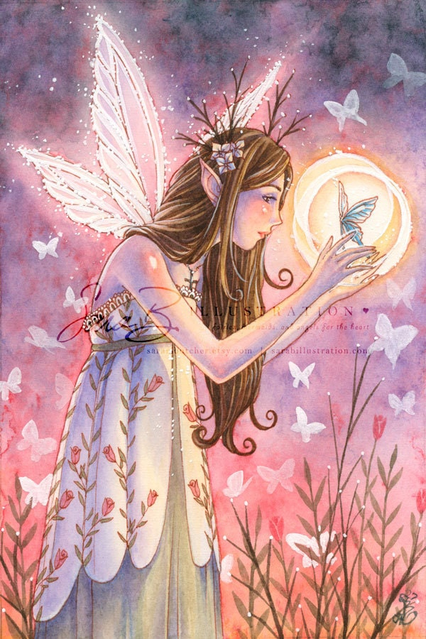 Items Similar To Garden Fairy Art Print