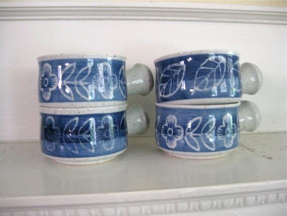 Stoneware Soup Crock Bowls - Set of 4