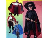 Pirate Swasbuckler Vampire Kids Costumes Masked crusader McCalls 3746 Halloween childrens costume sewing pattern UNCUT Size 3 to 8