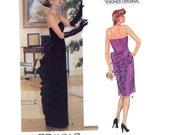 Designer Belleville Sassoon bustle gown sewing pattern Vogue 1275 Evening dress ballgown size 8 or 10