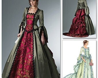 Sewing Pattern-McCalls 6097-Steampunk Victorian Bustle Dress-Plus Size